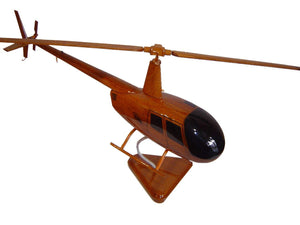 Robinson 44 Mahogany Wood Desktop Helicopters Model