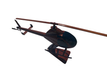 Load image into Gallery viewer, Rotorway Mahogany Wood Desktop Helicopter Model