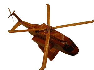 S92 Helibus Mahogany Wood Desktop Helicopter Model