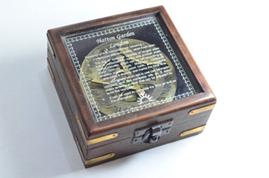 Hatton Garden London Sundial Compass box
