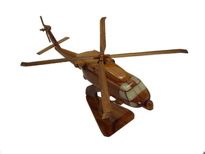 SH60 Hotel Mahogany Wood Desktop Helicopter Model