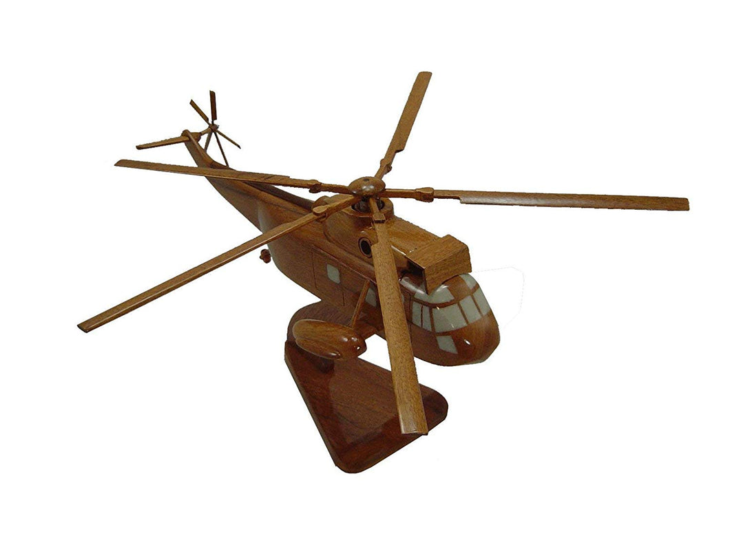 SH3 Sea King Mahogany Wood Desktop Helicopter Model