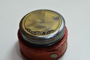 Effort tower poem compass With leather box