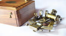 Load image into Gallery viewer, Nautical Sextant With Wooden Box
