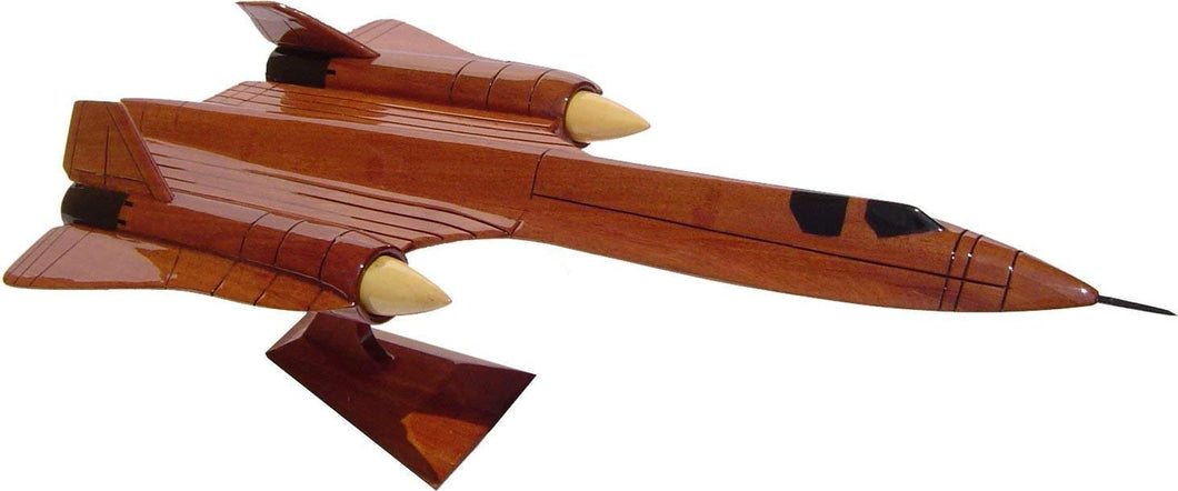 SR71 Blackbird Mahogany Wood Desktop Airplane Model