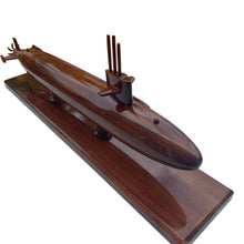 Load image into Gallery viewer, Sturgeon Class Submarine Mahogany Wood Desktop Model