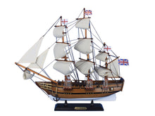 Load image into Gallery viewer, Wooden Charles Darwins HMS Beagle Tall Model Ship 20""