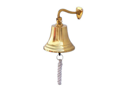 Brass Plated Hanging Ship's Bell 6
