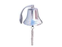Load image into Gallery viewer, Chrome Hanging Harbor Bell 10""