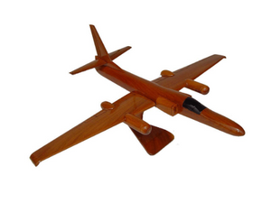 U2 Dragon Lady Mahogany Wood Desktop Airplane Model