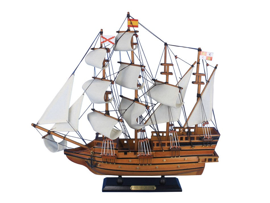 Wooden Spanish Galleon Tall Model Ship 20