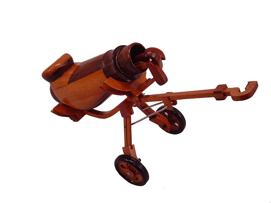 Golf Clubs Bag Mahogany Wood desktop model