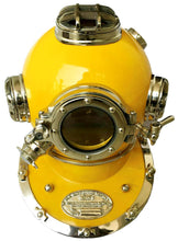 Load image into Gallery viewer, Dark Dual Tone finish diving helmet  scuba nautical mark V
