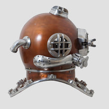 Load image into Gallery viewer, Brown finish diving helmet  scuba nautical mark V