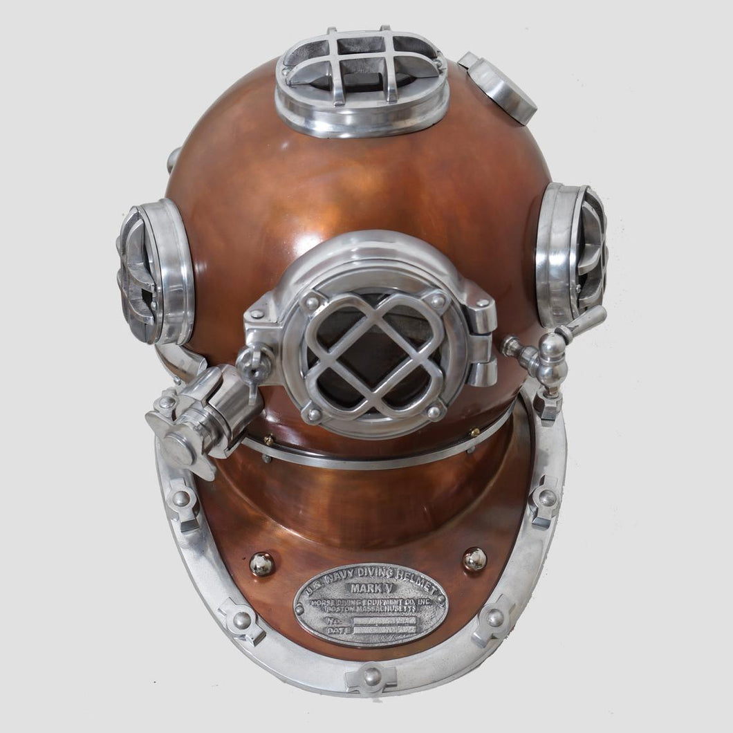Brown finish diving helmet  scuba nautical mark V