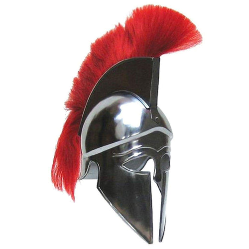 Armor Helmet Corinthian With Red Plume with cotton liner