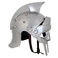 Load image into Gallery viewer, Armor Helmet Gladiator w/ Liner & Chin-Strap and cotton liner