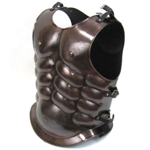 Steel Breast Plate Muscle Armor Copper Antique Finish