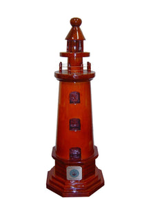 Light House 2 Mahogany Wood Desktop Model