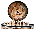 Load image into Gallery viewer, White Globe 13 inches with chess holder