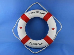 "RMS Titanic Decorative Lifering 20"" Red"