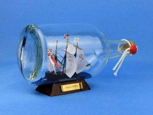 Santa Maria Model Ship in a Glass Bottle 9""""