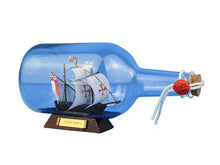 Load image into Gallery viewer, Santa Maria Model Ship in a Glass Bottle 9""""
