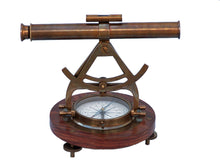 Load image into Gallery viewer, Antique Brass Alidade Compass 14