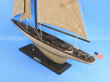 Load image into Gallery viewer, Wooden Vintage Intrepid Limited Model Sailboat Decoration 35""