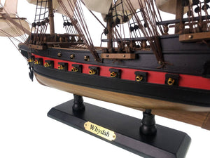 Wooden Whydah Gally White Sails Limited Model Pirate Ship 26""
