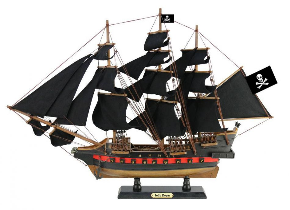 Wooden Captain Hook's Jolly Roger from Peter Pan Black Sails Limited Model Pirate Ship 26