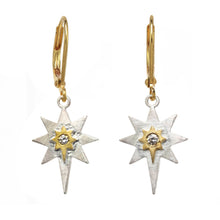 Load image into Gallery viewer, Sterling Silver Star and Diamond Earring