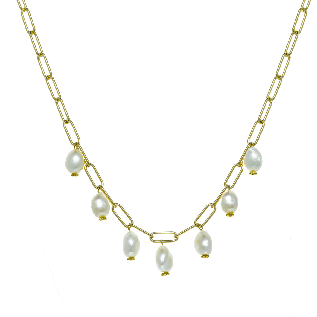 Pearl Bauble Necklace