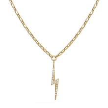 Load image into Gallery viewer, Pave Lightning Bolt Necklace