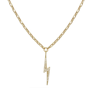 Pave Lightning Bolt Necklace
