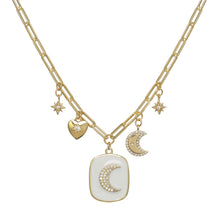 Load image into Gallery viewer, Enamel Celestial Charm Necklace