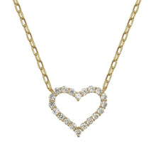 Load image into Gallery viewer, Pave Heart Necklace