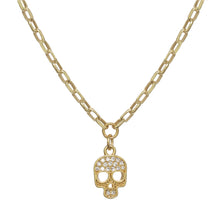 Load image into Gallery viewer, Sparkling Skull Necklace