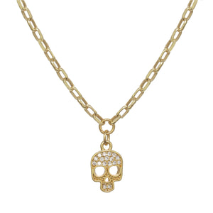 Sparkling Skull Necklace