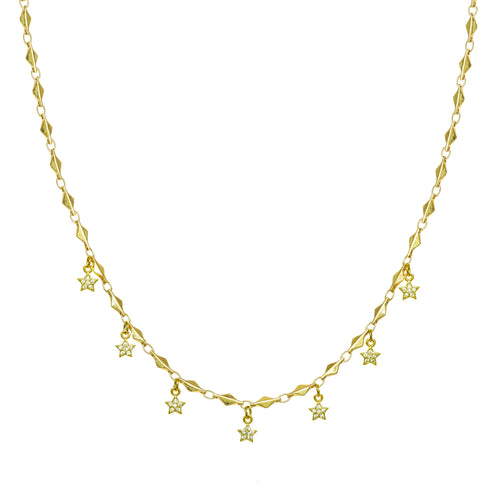 Dainty Star Droplet Necklace