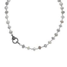 Load image into Gallery viewer, Silverite and Diamond Clasp Necklace