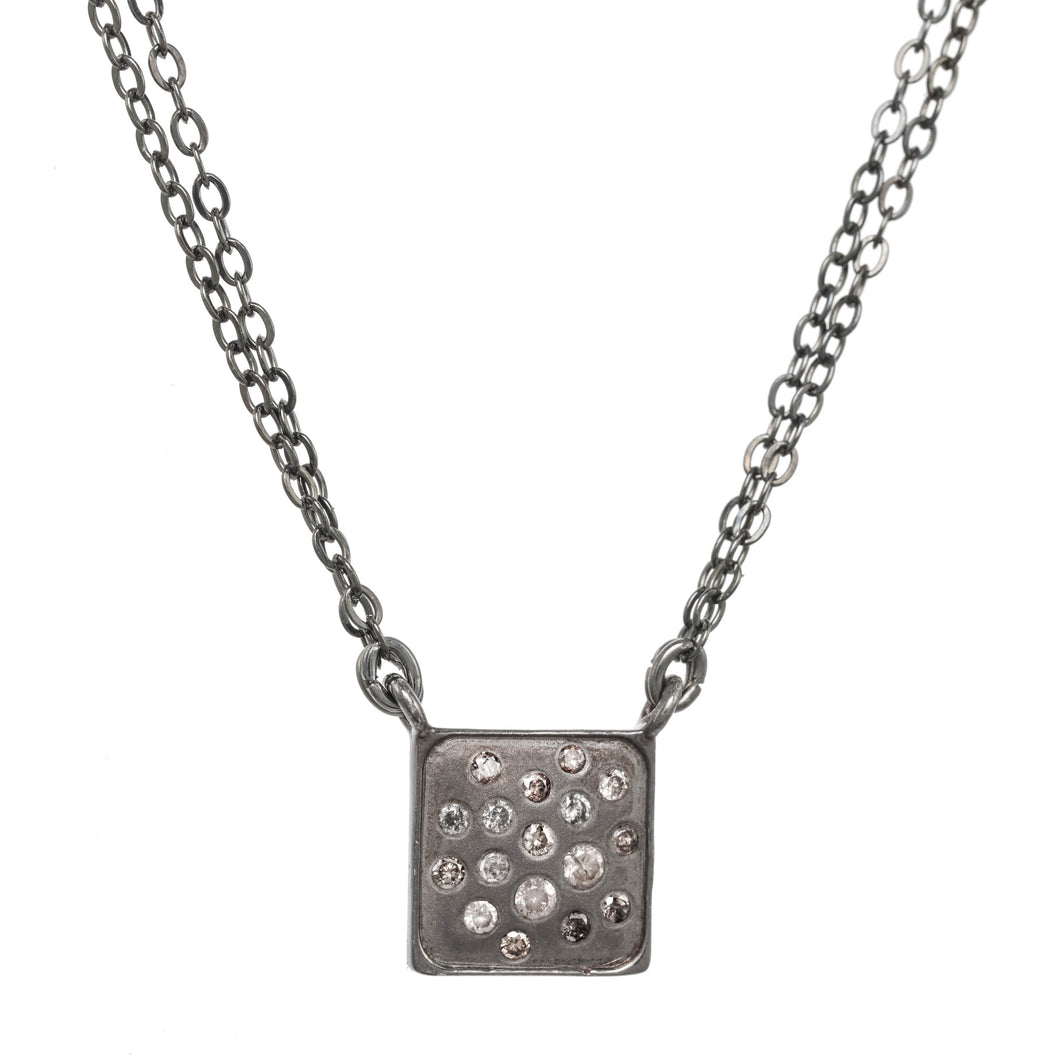 Petite Chocolate Daimond Pendant Necklace