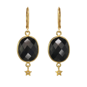 Black Onyx and Star Earring