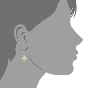 Silver and Diamond Flower Earring