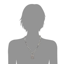 Load image into Gallery viewer, Silverite and Black Spinel Pendant Necklace