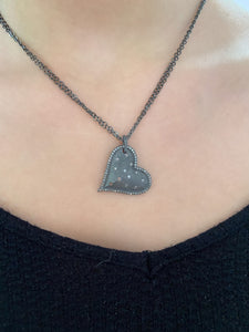 Hanging Heart Diamond Necklace