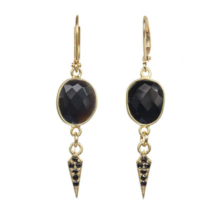 Black Onyx Mini Dagger Earring