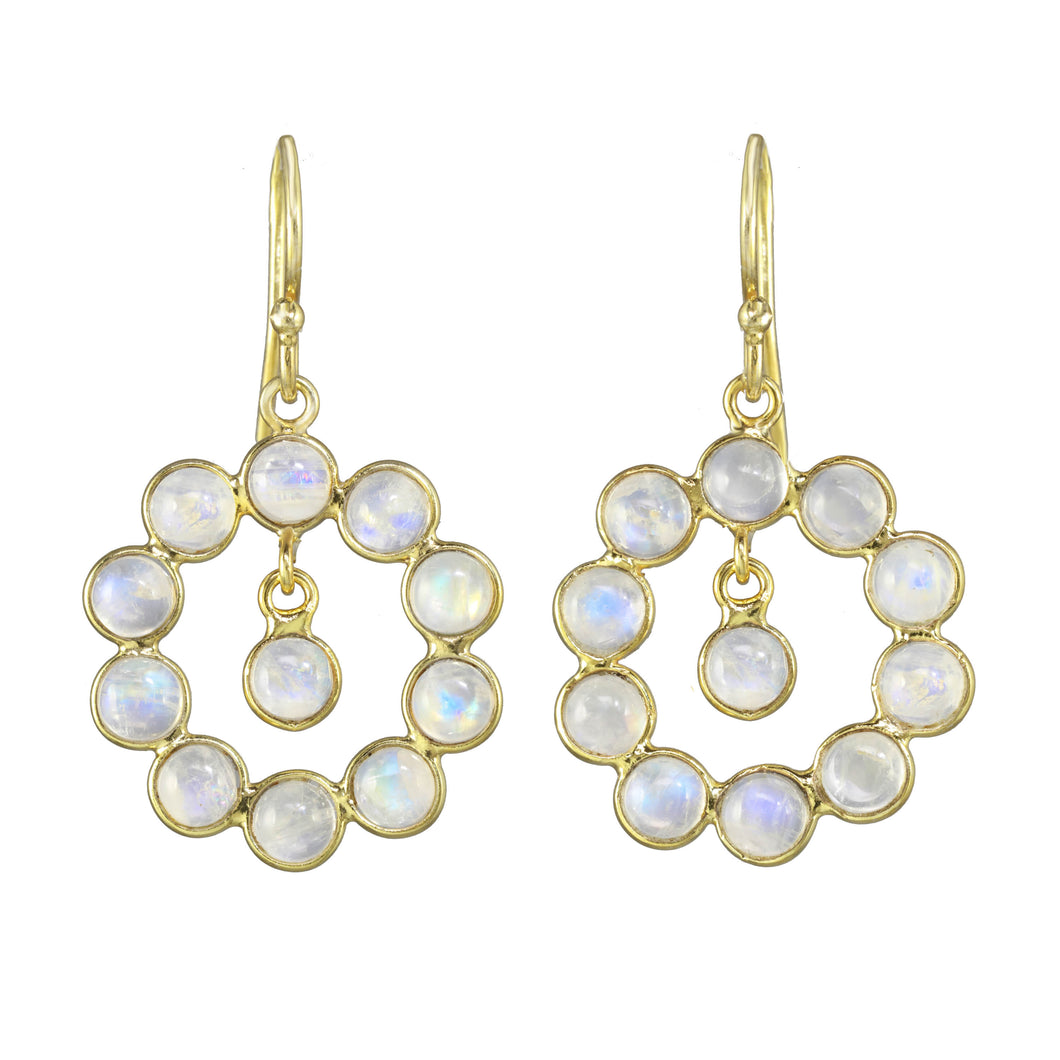 Moonstone Delicate Doorknocker Earring