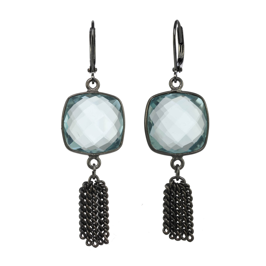 Blue Quartz Fringe Earring