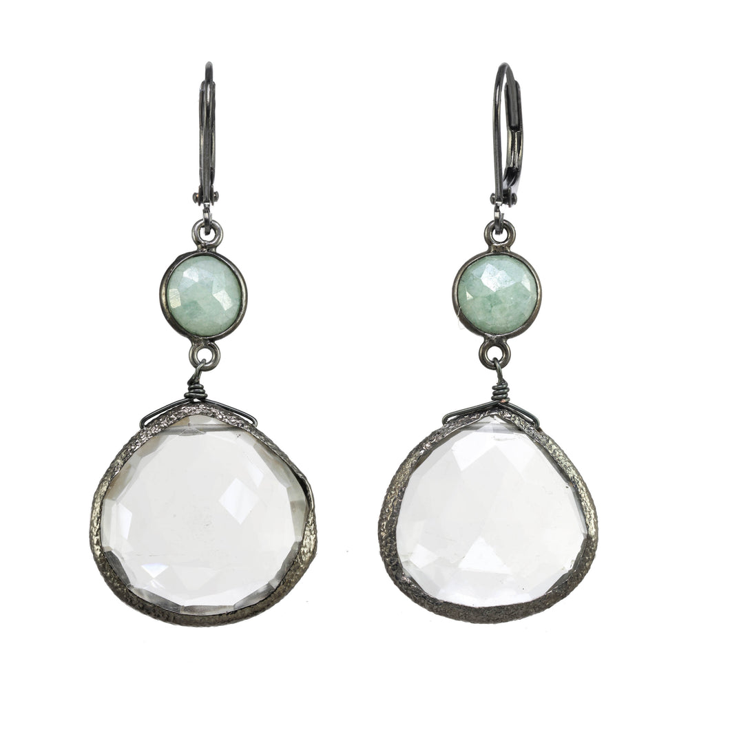 Clear Quartz Bezel Earring